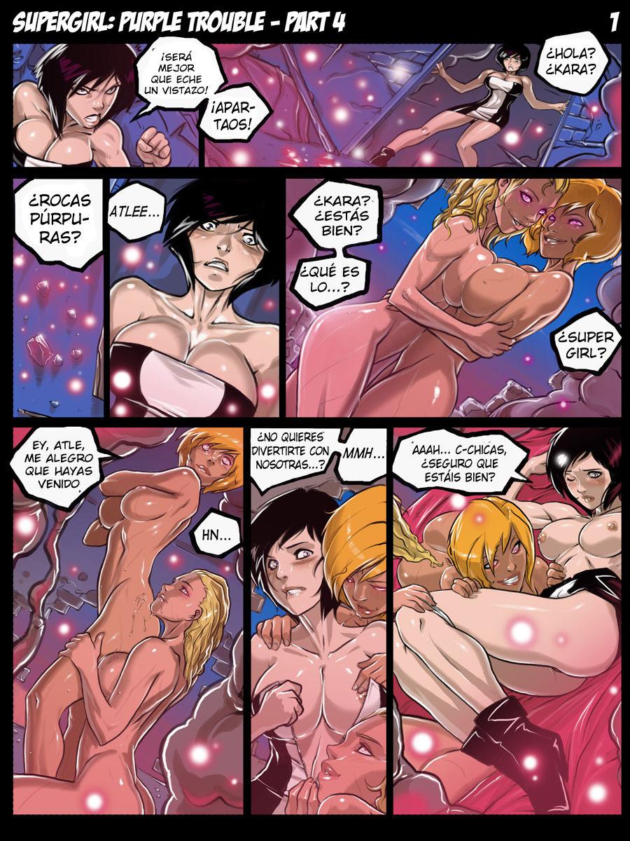 SUPER GIRL Purple Trouble