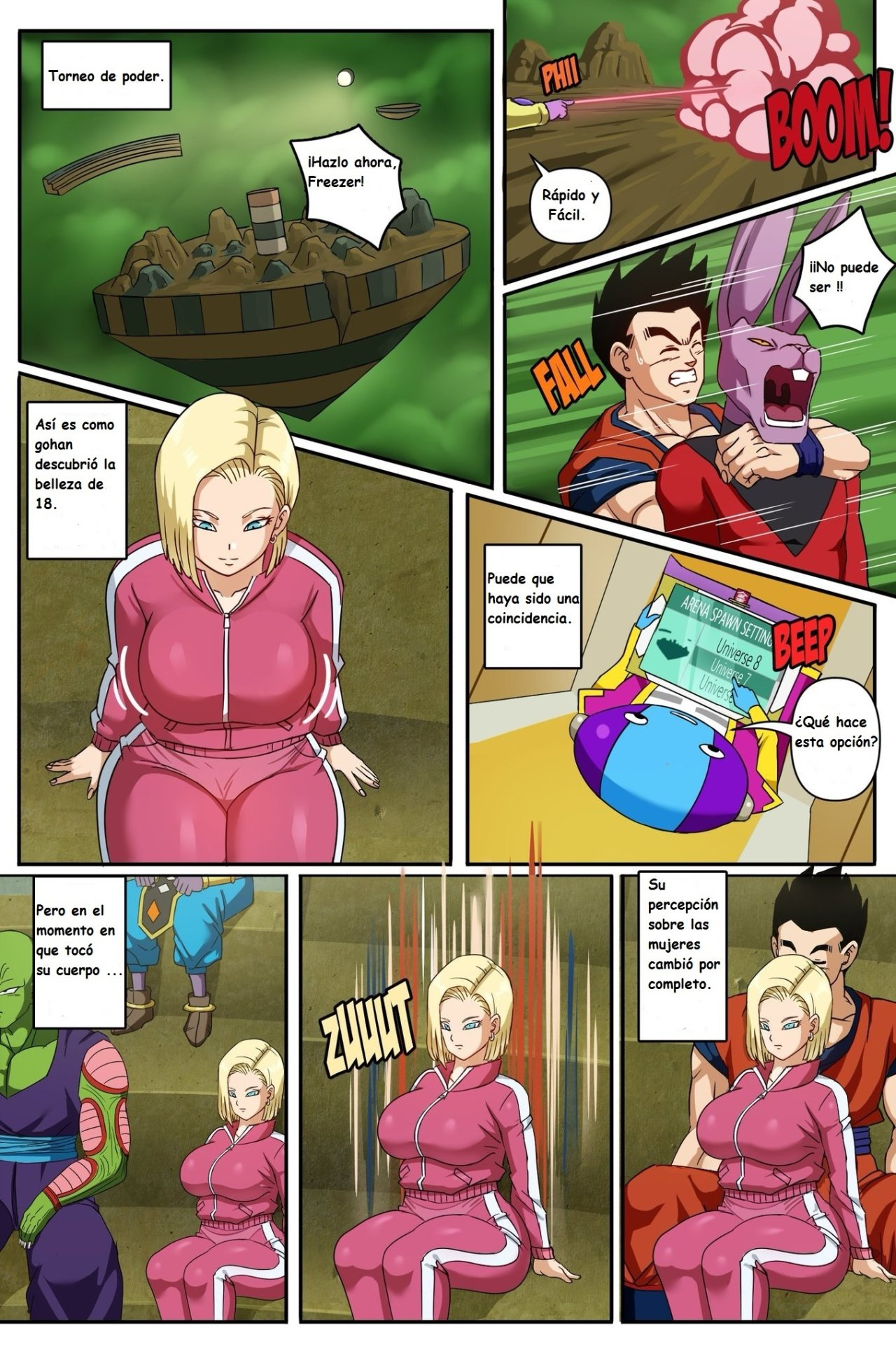 ANDROID 18 y GOHAN parte 2