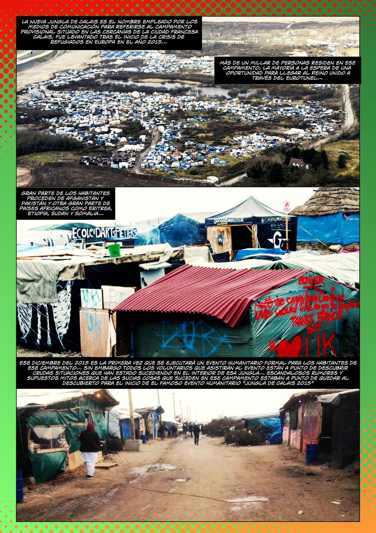 CHRISTMAS in The NEW JUNGLE Calais