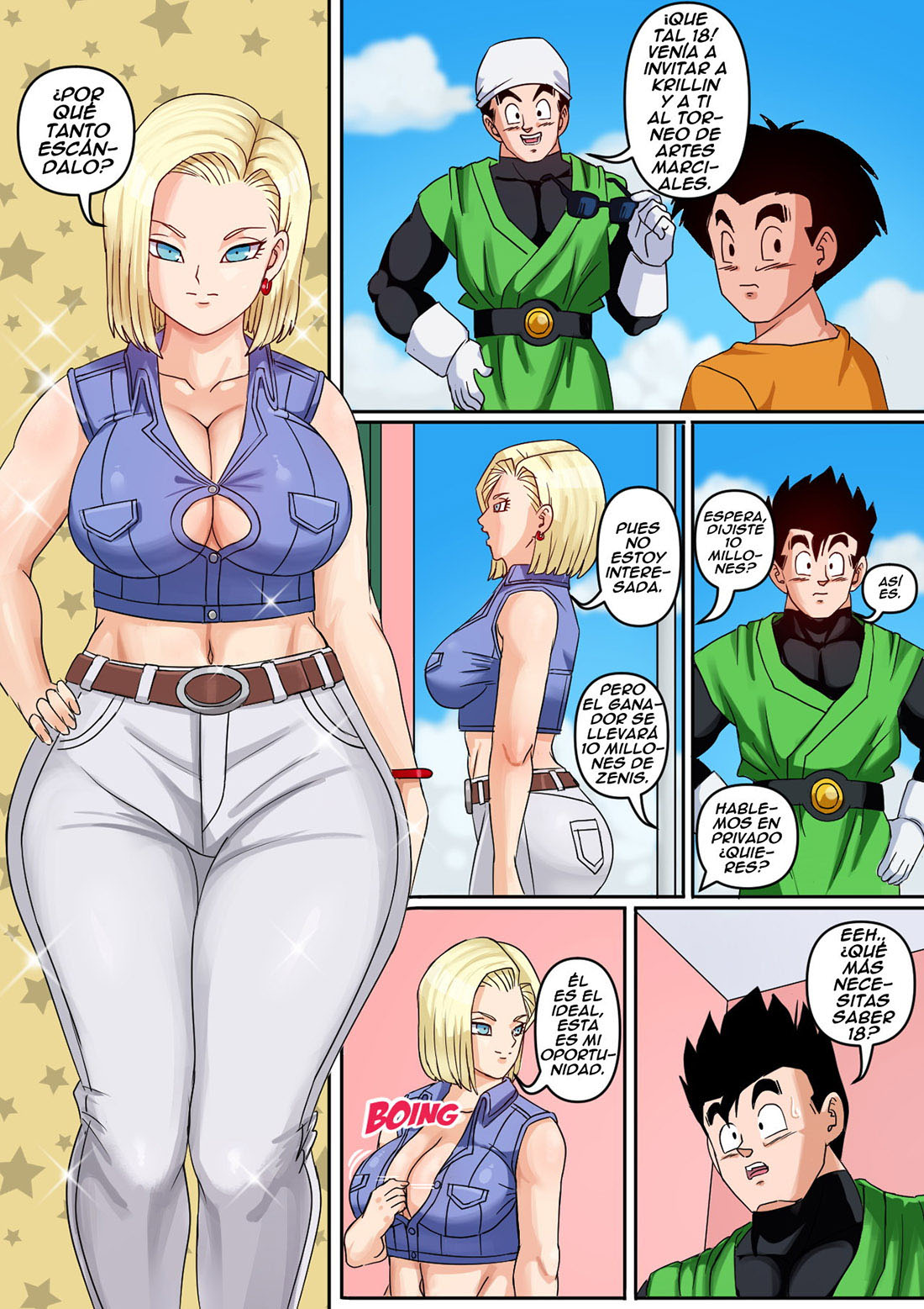 ANDROID 18 y GOHAN parte 1